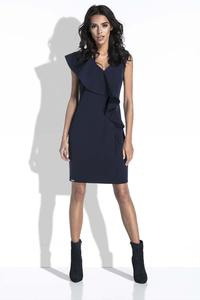 Dark Blue Coctail Mini Dress with a Frill