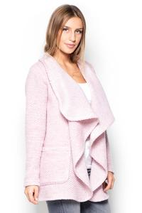 Pink Cardigan with Big Collar