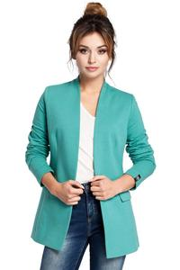 Green Casual No Buttons Blazer