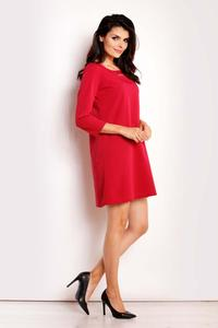 Red Classic Flared Mini Dress