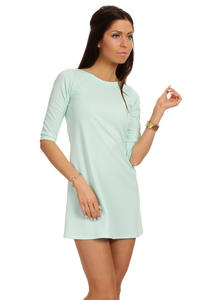 Mint Shift Dress with Metallic Emblem