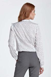 Meadow Pattern Shirt with Frills