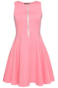 Pink Light Hearted Sleeveless Flare Date Dress