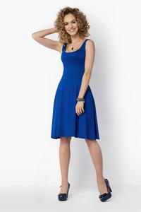 Blue Casual Knee Length Summer Dress