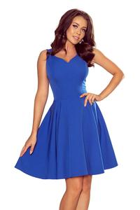 Cornflower Elegant Dress Flared on Wide Straps