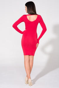 Red Bodycon Open Back Dress
