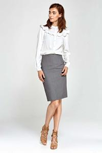 Grey Classic Pencil Skirt