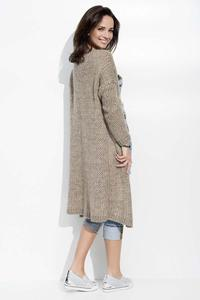Cappuccino Long Loose Lapels Cardigan