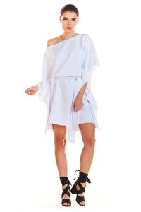 White Kimono Dress with belt