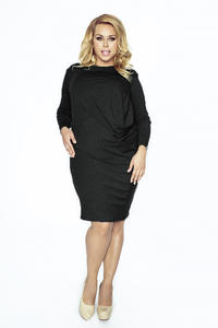 Black Wrinkled Dress PLUS SIZE