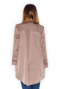 Beige Loose Lapels Light Spring Coat