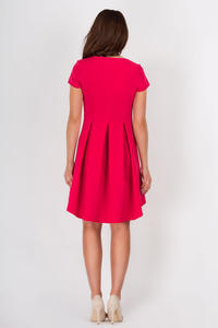 Red Asymetrical Flared Dress