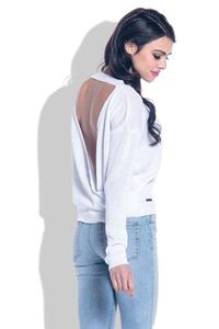 White Open Back Light Sweater