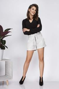 Grey Suede High Waist Shorts