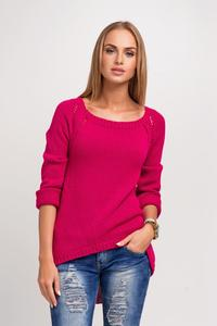 Amaranth Casual Sweter with Longer Back
