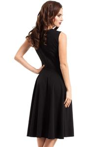 Black Evening Dress with Transparent Neckline