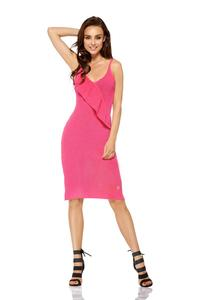 Fuchsia Sweater Dress on Thin Straps