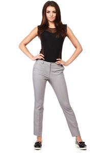 Grey Trendy Mode Tapered Style Long Pants