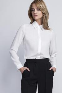 Ecru Long Sleeves Classic Ladies Shirt