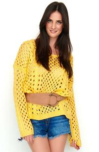 Oversize Openwork Apricot Sweater
