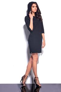 Black Mini Hooded Dress