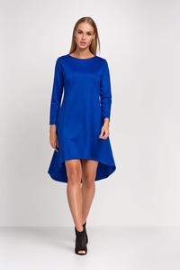 Blue Asymetrical Casual Dress