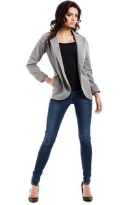 Grey  Loose Lapels Blazer
