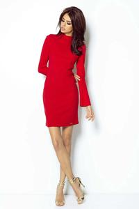 Red Open Back Coctail Dress