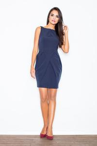 Dark Blue Sleeveless Coctail Chic Dress