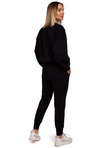 Knit Pants with Pockets (Black)