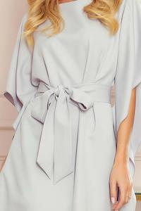 Gray  Butterfly Dress with Belt