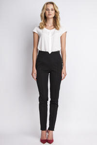 Black Hight Waist Elegant Pants