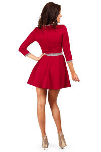 Red Retro Style A-line Mini Dress