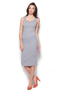 Grey Boxy Sleeve Tube Shirt Dress