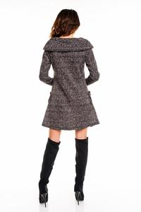 Dark Grey Wide Tourtleneck Dress