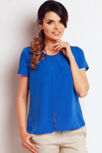 Blue Summer Short Sleeves Blouse
