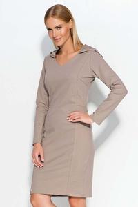 Cappuccino Hooded Casual Dress