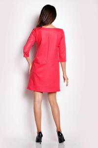 Pink Eco-Leather Flared Mini Dress