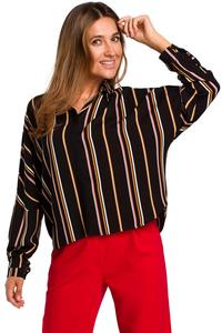 Loose Shirt with Vertical Stripes Model 1