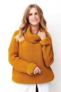 Mustard Oversize Turtleneck Sweater