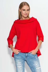 Red Hooded Blouse