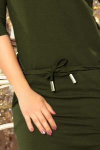 Khaki Sports Dress Drawstring Waist