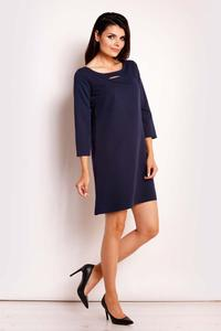 Dark Blue Classic Flared Mini Dress