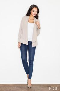 Beige Office Style Loose Lapels Blazer