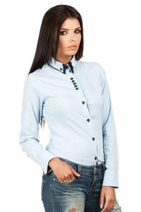 Sky Blue Button Down Collar Executive Shirt