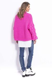 Pink Oversize Turtleneck with Puffy Sleeve