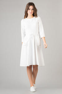White Refreshing Humming Monk Spring Dress
