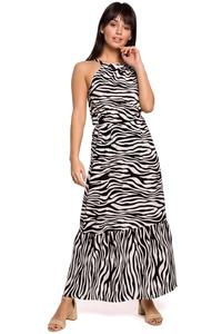 Maxi Dress Leopard Print Sleeveless (white and black)
