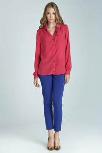 Fuchsia  Long Sleeves Classic Office Shirt