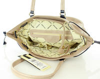 Beige City Casual Style Hand/Shoulder Bag